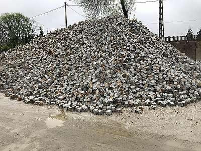 Granit Pflastersteine 7x9 / 9x11 / 15x17 Granitpflaster, Granitsteine, Kopfsteinpflaster, Granitwürfel, Pflaster, Gartendekoration, Bodenbeläge, 25 T - 2125 Euro Netto / 85 Euro 1 Tonne Höchste QUALITÄT