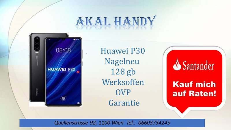 Huawei P30 Neu Werksoffen Ovp Garantie 559 1100 Wien