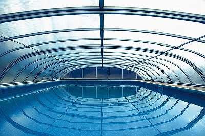 Top Angebot Poolüberdachung - Schiebedach - Schwimmbadüberdachung - Pooldach 646x407x82cm