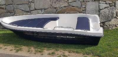 NEU&Lagernd 410 Classic Angelboot Ruderboot 400 x 150 bis 15 PS Fischerboot Familienboot Freizeitboot Badeboot mit 200 cm Liegfläche Motorboot Boot auf wunsch mit Bootsanhänger Außenborder usw