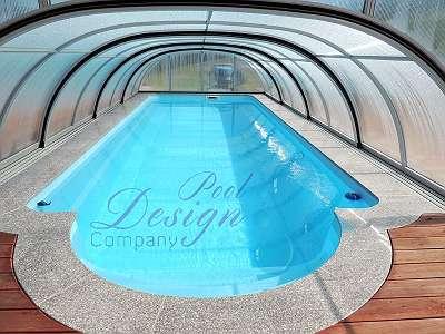 NEU GfK Schwimmbecken NEU Swimmingpool Imperial 9,50 m x 3,70 m x 1,55 m Full SET