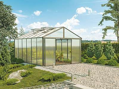 Gartenpro Profigewächshaus 306B