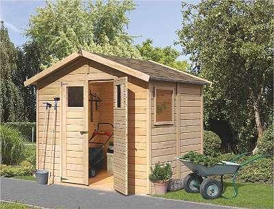 Karibu Gartenhaus Dalin 1 | Gerätehaus mit gratis Dacheindeckung!