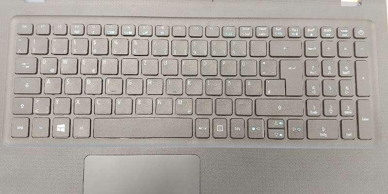 Original Acer Aspire ES 15 Topcase mit Tastatur und Touchpad - Schwarz, DE Layout