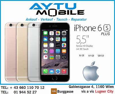 Apple iPHONE 6S PLUS / 16GB / SILVER / GOLD / geburaucht / OFFEN FÜR ALLE NETZE / IN EINEM SEHR GUTEN ZUSTAND mit alle zubehör