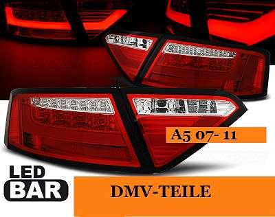 Rücklechten Audi A5 hinten Facelift optik rote LED Lampen LED 2008-2011 PLug & Play