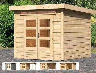 Karibu Gartenhaus Kandern 3 mit gratis Dacheindeckung!