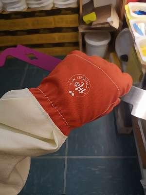 Imkerhandschuhe, Handschuhe Baumwolle, Imker Schutzbekleidung, Handschuhe, LEDERFREI! Imkereibedarf, Imker Ausstattung