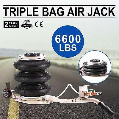 3T Pneumatischer Wagenheber Air Jack 3 Ringe Pneumatic Druck Luft Drehbaren