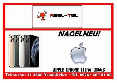 AKTION NAGELNEU! NOCH VERSIEGELT! WERKSOFFENE APPLE IPHONE 11 Pro 256GB IN SILBER !