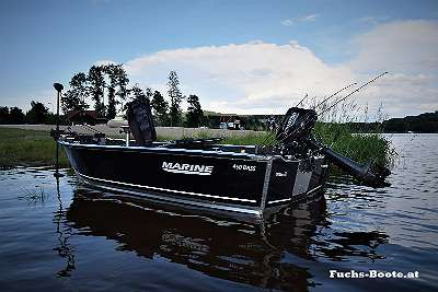 NEU 450 Bass Boot Raubfisch Aluminiumboot 450 Bass Aluboot Fischerboot Angelboot Ruderboot Motorboot Wallerboot Boot Marine