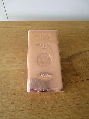 Kupfer Barren Copper Bar Ingot CU 5 kg Kupferbarren Güldengossa Geiger Edelmetalle 23,3/ kg