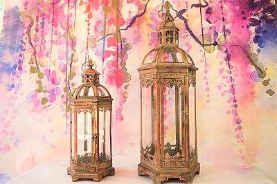 ... Riesige Laterne aus Metall / Laternenset im Vintage Chic! Windlicht Stimmungslicht Kerze Laterne Licht Wohnzimmer Balkon Terrasse Windlicht zum Hängen und Stellen Glas Kerze