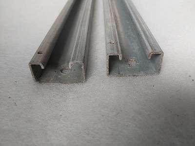 C Profilschiene 39x21x890mm, , Stahl verzinkt, gebraucht-Top