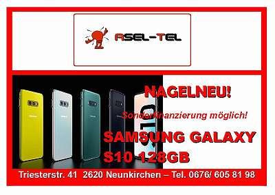 AKTION! NAGELNEU! WERKSOFFENE SAMSUNG GALAXY S10 128GB IN GRÜN BLACK!