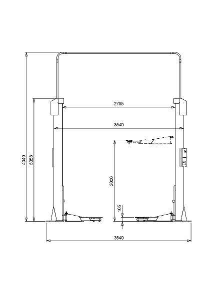 Inkl. Montage 2 Säulen Spindel Hebebühne Herrmann ECO LIFT 2.35 KFZ Zweisäulenhebebühne 2Säulen Zwei Säulen Hebebühne * Finanzierung möglich *