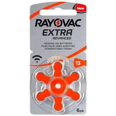 Rayovac Hörgeräte Baterrien 13 oder 312 6 Pack