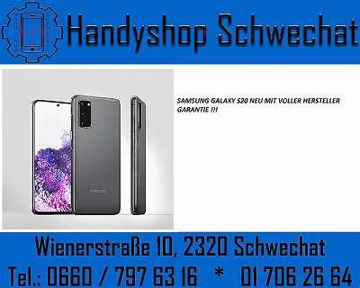 SAMSUNG GALAXY S20 / BLUE / NEU / OFFEN FÜR ALLE NETZE / HANDYSHOP SCHWECHAT, WIENERSTRASSE 10 2320 SCHWECHAT