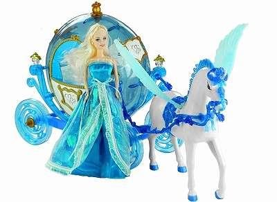 Puppe mit Pferd und Kutsche neu Original verpackt