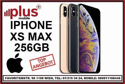 IPHONE XS MAX 256GB ALLE FARBEN, GEBRAUCHT, IN GUTEN ZUSTAND, WERKSOFFEN, GARANTIE, PLUS MOBILE !