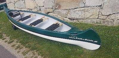 LAGERND - 500 cm 4 Sitzer Kanu Kanadier Canadier Kajak für 3 Personen Lod Lodi Clun Ruderboot Paddelboot Angelboot