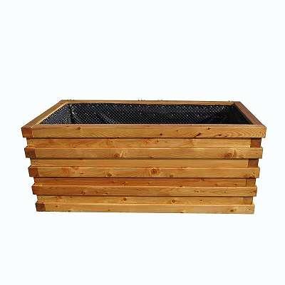 Premium Hochbeet massiv aus Lärchenholz 200x100cm (Holzbeet, Frühbeet rund, eckig, Fichte, Gartenbeet) AKTION