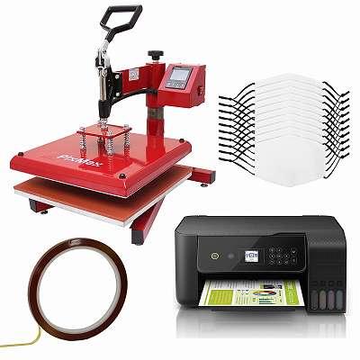 10 mittelgroße Gesichtsmasken für den Sublimationsdruck Medium, Schwingpresse & Eco Tank Drucker 27622