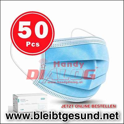 50 Stück Gesichtsmaske mit Ohrschlaufen / Schutzmasken / Handydialog 1030 Wien Landstrasse 99