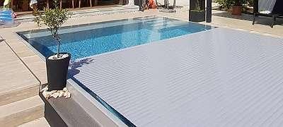 NEU - Poolabdeckung - Poolcover mit Lamellen