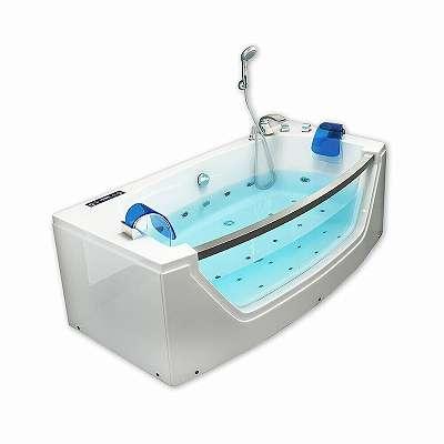 Whirlpool Badewanne mit Sichtfenster 175x85x60cm