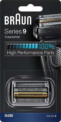 Braun 92B Scherkopf Ersatz Scherkassette passend für Series 9 Rasierer 9299s, 9297cc, 9296cc, 9295cc, 9293s, 9292cc, 9291cc, 9290cc, 9280cc, 9260s, 9250cc, 9242s, 9240s, 9095cc, 9093s, 9090cc, 9080cc, 9075cc, 9070cc, 9050cc, 9040s, 9030s