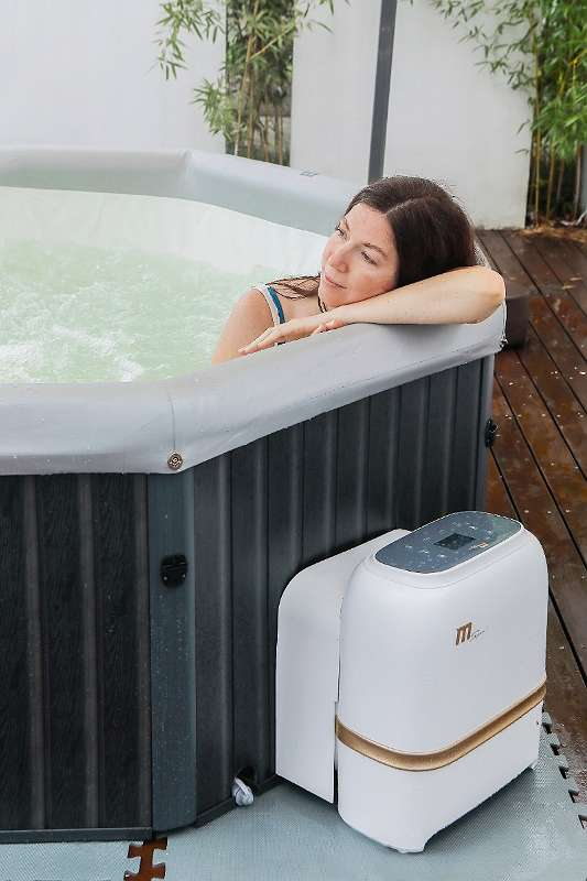 Premium Whirlpool Outdoor Tuscany Spa aufblasbar 193x193cm + Vollausstattung ! Außenwhirlpool Hot Tub Wellness für 6 Personen (Badewanne) (American / Bubble Spa) - SONDERAKTION !
