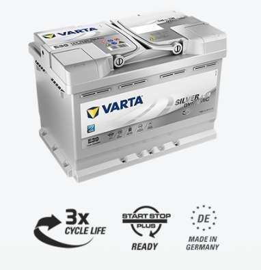 VARTA AGM 570901076D852 Start-Stopp 70Ah Autobatterie