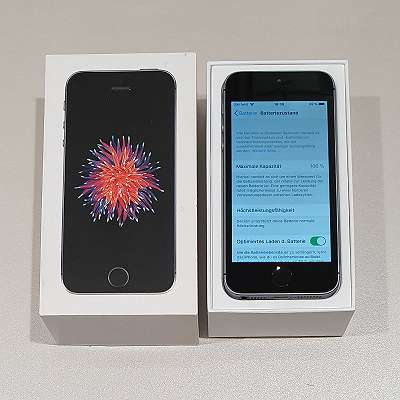 iPhone SE 32GB SpaceGray sehr neuwertig A1-Simlock mit Garantie - kostenloser Versand