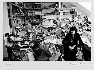 Michael HOROWITZ, Friederike Mayröcker - Zu Hause - Fotographie Pigmentdruck