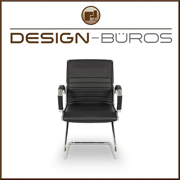 schwingstuhl besucherstuhl chefsessel leder schwarz b rostuhl b ro stuhl sesse 249 1010. Black Bedroom Furniture Sets. Home Design Ideas