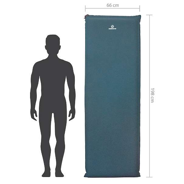 selbstaufblasende Isomatte Camp Bed 1 Maße