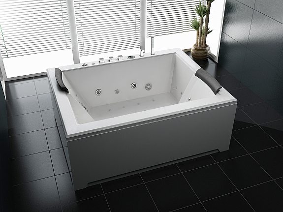 luxus whirlpool indoor badewanne 180x142 vollausstattung sonderaktion 8770. Black Bedroom Furniture Sets. Home Design Ideas