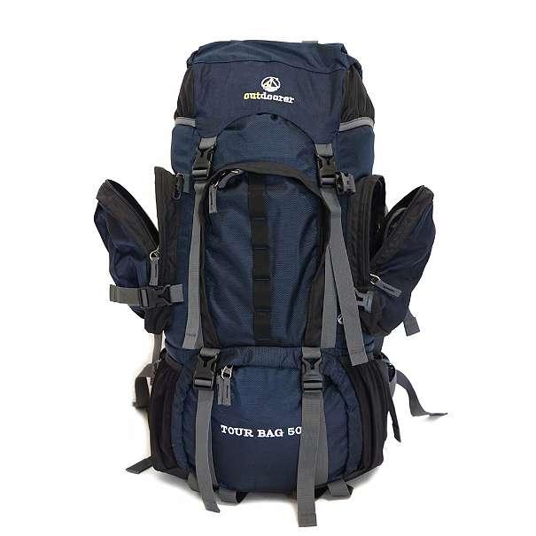 Fronttaschen offen beim Tour Bag 50 von outdoorer