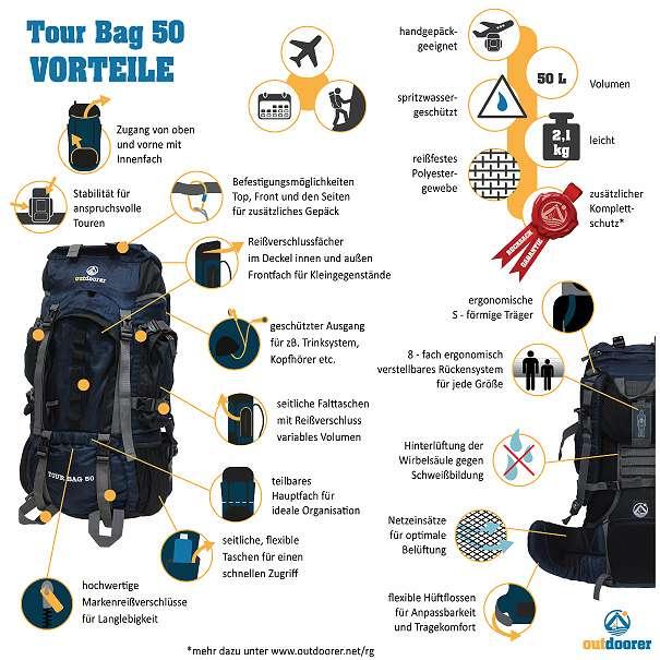 Tourenrucksack Tour Bag 50 Vorteile