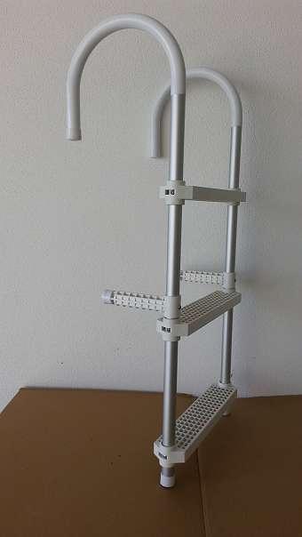 alu badeleiter bootsleiter boot leiter abnehmbar 3 stufen. Black Bedroom Furniture Sets. Home Design Ideas