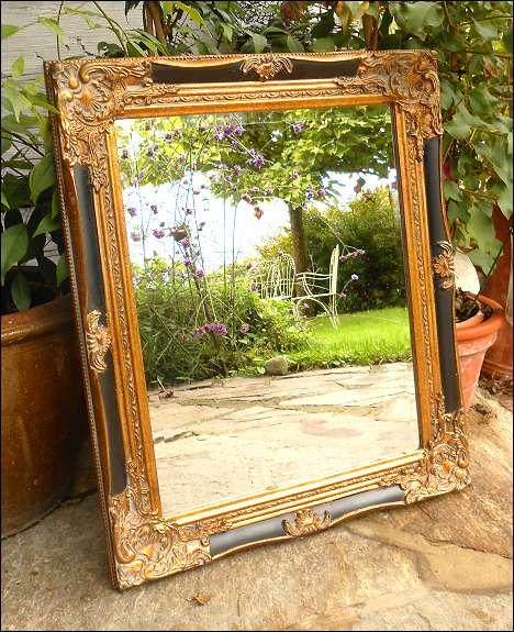 goldener spiegel barockspiegel 25 8144 tobelbad. Black Bedroom Furniture Sets. Home Design Ideas