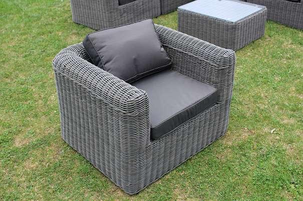 Gartenmobel Bank Mit Tisch :  schwarz graumeliert Gartenmöbel Polyrattan Loungemöbel Lounge