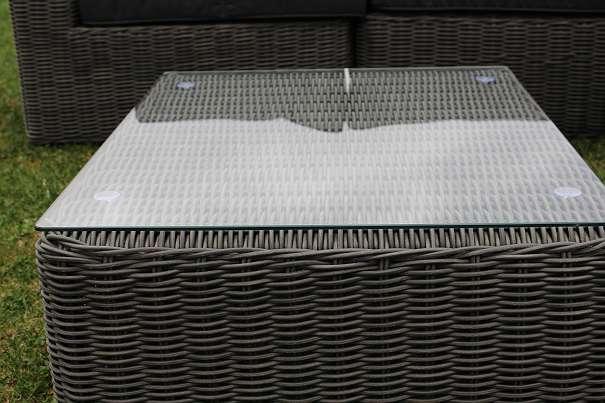 Hofer Prospekt Gartenmobel : ° XXL Garnitur MARBELLA schwarz graumeliert Gartenmöbel Polyrattan