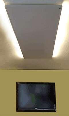 infrarot heizung mit led licht infrarotheizung heizung steuerung thermostate heizung 345. Black Bedroom Furniture Sets. Home Design Ideas