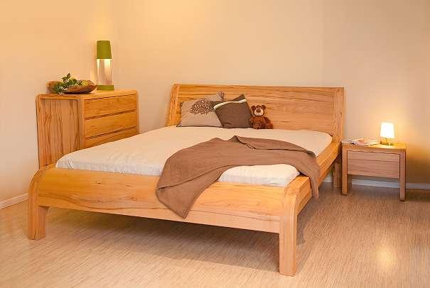 Aktion Massivholz Bett Frances Metallfreies Holzbett Aus Wildeiche