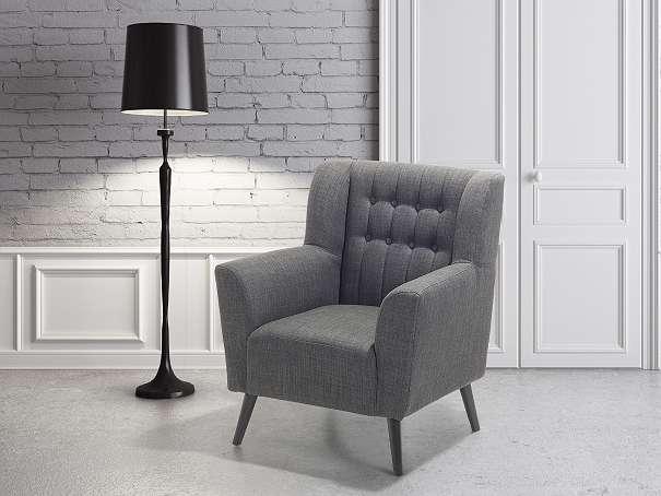Sessel Dunkelgrau - Relaxsessel - Fernsehsessel - Chefsessel - Polstersessel - ROSKILDE - Wien - Rabatt in Höhe von 10 €! Um den Rabatt zu erhalten geben Sie bei der Bestellung den Code WH98AT ein. Der Sessel ist gut kombinierbar. Seine elegante, anmutige Art wird den Charakter ihres Wohnzimmers verändern. Die Chesterfield-Struktur in der  - Wien