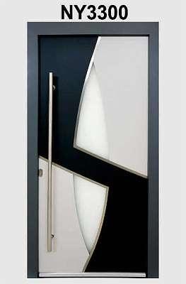 WeltHaus Haustür WH94 Premiumtür Aluminium mit Kunststoff Tür NY3300 Eingangstür