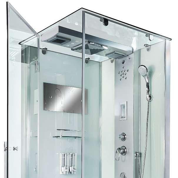 Aluminium R?ckwand Dusche : Dusche Duschtempel Komplett Duschkabine 90×90, ? 1.199,90 (6311