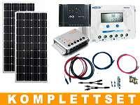 100,115,175, 230, 345WP, 350wp MONO 12V Photovoltaik Solar Komplettset für Gartenhütte Wohnmobil Boot Camping